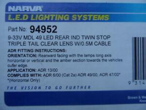 MACK-FORD-DODGE-INTER-KENWORTH-  JUMBO LED TAILLIGHTS X 2-NARVA 94952
