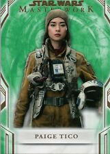 Star Wars Masterworks 2018, Paige Tico Base 83 Green Parallel Card #21/99