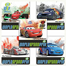 DISNEY Cars 2 World Grand Prix Stickers x 5 - Birthdays Loot Bag Party Supplies