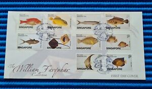 2002 Singapore First Day Cover William Farquhar Collection FISHES Stamp Issue