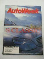 AUTO WEEK MAGAZINE DECEMBER 7, 1998 MERCEDES BENZ 2000 S CLASS SEDAN CAR