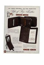VINTAGE 1933 LOT OF 2 ENGER-KRESS OSTRICH MEN'S WALLET CIGARETTE CASE AD PRINT