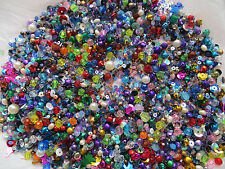 50+stitch on Beads Sequince1mm-6mm Mixed Colours Jewellery Making Crafts DIY