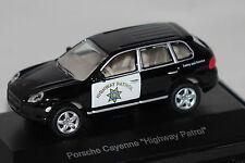 Porsche Cayenne Highway Patrol schwarz 1:87 Schuco neu + OVP 25391