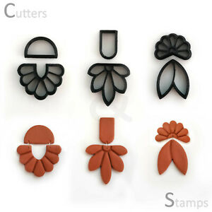 Floral Polymer Clay Cutter set of 6   Clay Stamp Cutter   Unique clay cutter  