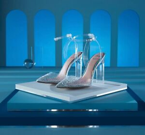 Disney X Aldo Cinderella Glassslipper High Heel Clear Embellished Size 5-10 NIB