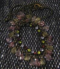 Hermoso tono bronce cadena con grandes piedras y cuentas aprox 15 INS Extensible