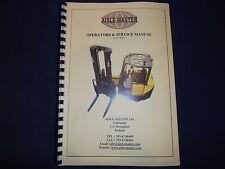 AISLE MASTER ELECTRIC STACKER TRUCK GENERIC SERVICE OPERATORS MANUAL BOOK