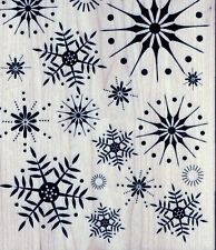 Hero Arts - Rubber Stamp on Wood - Stunning Snowflakes - S5068