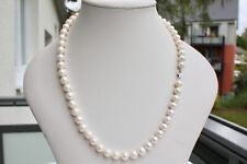 AAA 8,5-9,5mm 55cm Süßwasser Perle Schmuck Halskette Ketten Perlenkette Collier