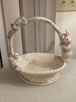 Lenox Occasions Easter bunny porcelain basket