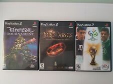 Play station 2 Unreal Tournament, The Lord of the Rigns and 2006 FIFA - Lot of 3