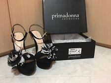 Sandalo Donna Nero Con Tacco + Borsa pochette abbinata