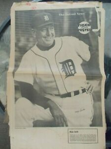 Vintage 1968 Detroit News Full Page Individual Detroit Tigers Posters 26 total