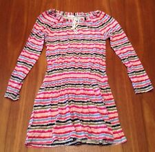 COUNTRY ROAD Girls Drawstring Neck Elastic Drop Waist Long Sleeve Dress 10