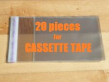 20 pieces Resealable Outer Plastic Sleeves for CASSETTE TAPES