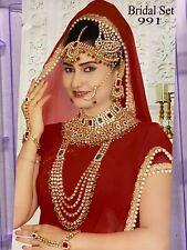India Fashion Pearl Gold Plated Kundan Bollywood Bridal Jewelry Necklace Set