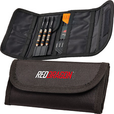 Darts Wallet/Case Red Dragon™ Tri-Fold Pro - Secure Close, Flights&Stems Storage