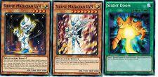 Set of 3  Silent Doom + Silent Magician LV4 + Silent Magician lv8 LDK2 yugioh
