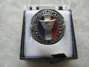 Boy Scout Eagle Scout Ring Size 8 in Original Box   Mint  Never Worn