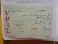 OLD VINTAGE QSL HAM RADIO CARD. BERMUDA. 1955