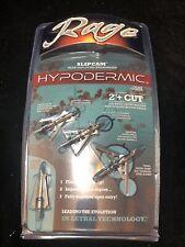Rage 2-Blade Expandible Broadhead Hypodermic TRYPAN 2 inch 100 grain 3pk #01192