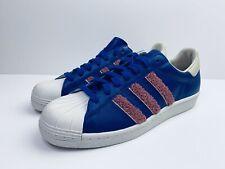 Adidas Originals Superstar 80s Shoes Blue UK 8.5 EUR 42 2/3 BD7374