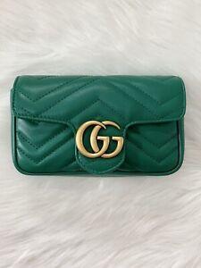 Gucci Marmont Super Mini Green Bag
