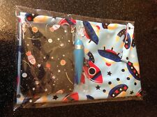 50's atomic Sputnik spaceship Purse cosmetic bag Shoe Bag Rocket Pen Set