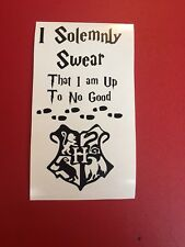 I solemnly Swear I'm Up To No Good HarryPotter Inspired Wine Bottle Vinyl  Decal