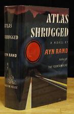 ATLAS SHRUGGED (1957) AYN RAND, 1ST EDITION, NEAR FINE 2ND PRINTING IN DJ