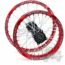 """RED 15MM RIMS DIRT RACING 17"""" FRONT 14"""" REAR ALLOY RIM THUMPSTAR PIT BIKE150 160"""
