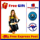 NEW Batgirl SuperHero Fancy Dress Halloween Costume Outfit + Cape +Mask +Belt