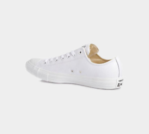⚫⚫ 2020 CONVERSE ALL STAR OX LEATHER MONO WHITE,BLACK UNISEX TRAINERS