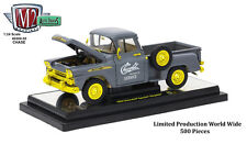 Chase 1958 CHEVROLET APACHE STEPSIDE TRUCK GRAY 1/24 BY M2 MACHINES 40300-55A