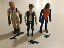 Vintage Star Wars Action Figures Han Bossk (Pristine) Walrus Man Orig Weapons
