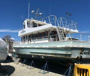 1962 Gilligan 59' Wood Charter Fishing Boat - Triple Diesel - Connecticut