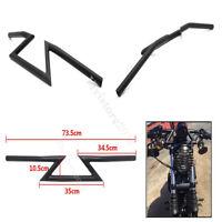 Motorcycle Drag Z-Bar Handlebar 22mm 7/8 For Honda Yamaha Harley Chopper Bobber
