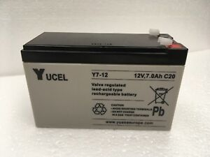 Y7-12 Yuasa Yucel 12v 7Ah SLA battery for Alarms, Emergency Lighting, Toy cars