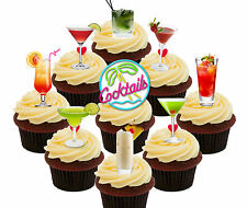 Cocktail Party! 36 Edible Cup Cake Toppers, Fairy Bun Decorations Hen Night Girl