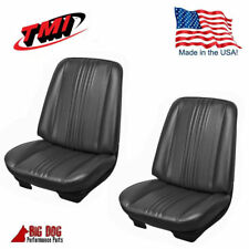 1970 Chevelle Front & Rear Seat Upholstery - Black- Made by TMI - IN STOCK