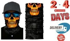 skull yellow Balaclava Full Face Mask Winter Ski Halloween Cycling Motorcycle