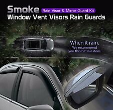 Smoke Window Vent Visor + Side Mirror Rain Guard 6P For KIA 2008 -2012 2013 Soul