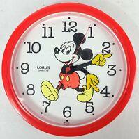 Vintage Disney Mickey Mouse Quartz Wall Clock Lorus LHY224RL