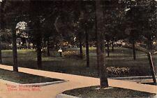 Three Rivers Michigan~Caretaker in Water Works Park~1912 Postcard