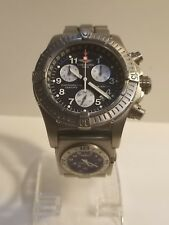 BREITLING CHRONO AVENGER M1 TITANIUM 44MM BLACK DIAL MENS DIVING WATCH E73360