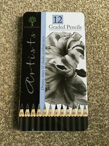 12 Artists Graded Pencils in Tin Case