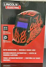 Lincoln K3446 1 Red Steel Helmet Variable Shade 9 13 Auto Darkening Lens New