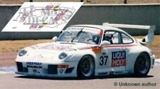 Decals Porsche 911 GT2 evo Le Mans 1996 37 1:32 1:43 1:24 1:18 slot calcas