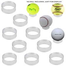 """New listing 10x Round 1-1/2"""" Acrylic Display Stand Pedestal for Golf Ball Baseball Softball"""